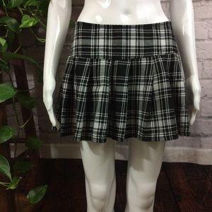 Royal Bones sexy black & white plaid mini skirt